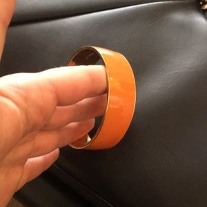 Orange and gold j crew bangle bracelet
